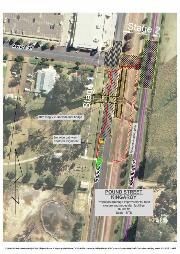 PROPOSED PLANS: The South Burnett Regional Council's proposal for Pound St.