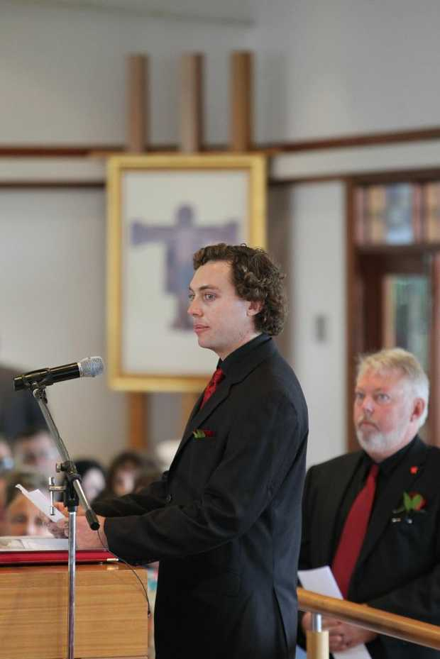 Daniel Morcombe's brother Dean speaks at the funeral