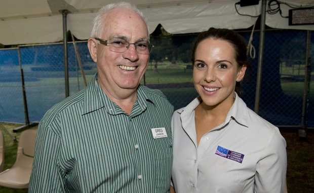 Spotted at the event in Queens Park are ( from left ) Greg Johnson and Kristina Blue.