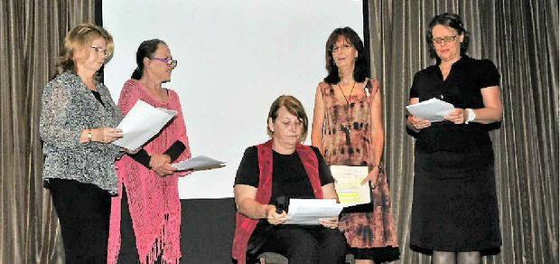Actors read an excerpt from the verbatim project at the recent White Ribbon breakfast.