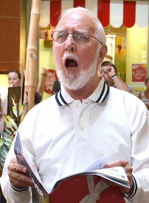 Shoppers were stunned initially, but delighted, when two choirs broke into song yesterday.