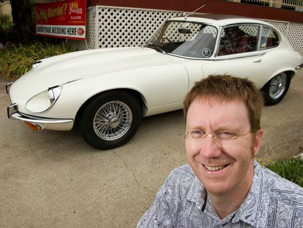 Russell Douglas shows off his 1972 E-Type V12.