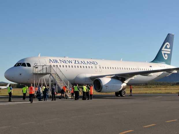 Air New Zealand at Sunshine Coast Airport.