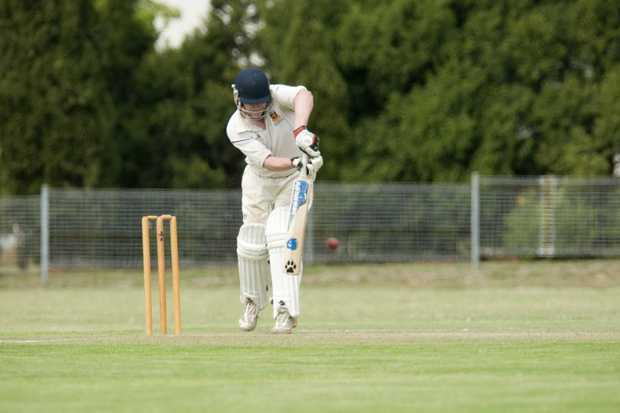 CENTURION: Brendan O'Keeffe bats on his way to making a century for University.