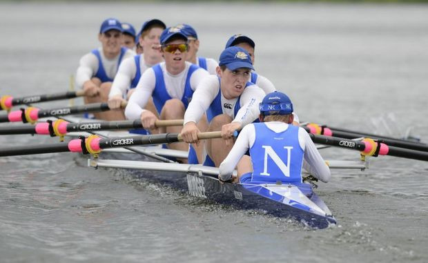 St Josephs Nudgee were competing in the 'Head Of The River' rowing regatta eights event on the Clarence River in Grafton on Saturday. Photo Debrah Novak / The Daily Examiner