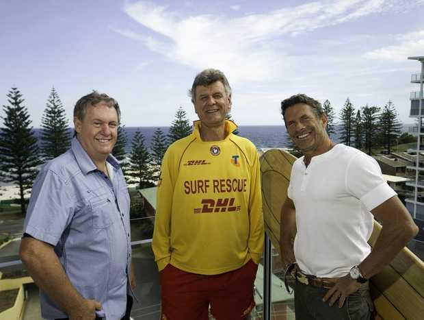 Craig Paddison, Mark Humphries and Michael Brosnan on the stunning penthouse balcony.