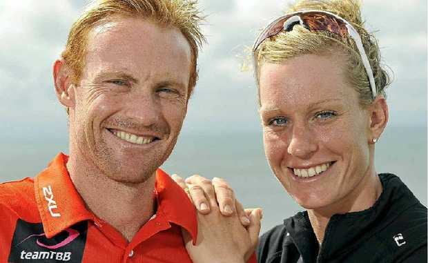 Caroline Steffen, pictured with Australian boyfriend Dave Dellow, has announced she will stay a Swiss citizen for the time being.