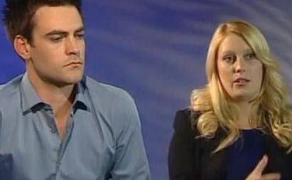 Radio hosts Michael Christian and Mel Greig on Today Tonight at the time of the prank incident.
