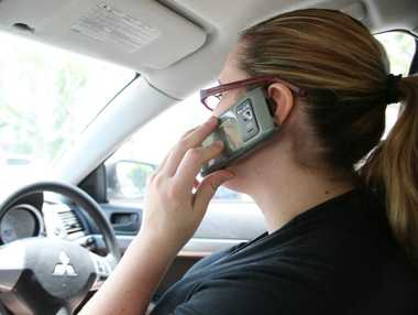 Motorists who talk on hand-held mobile phones and drive distractedly are high on the list of highway patrol officers.