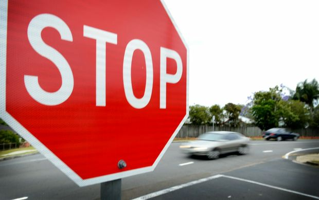 Always stay alert when approaching an intersection.