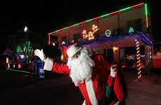 Santa Claus (Terry Haden) is a huge Christmas fan. He does up his Battery Hill house with a vast light display every year and dresses up for the kids.