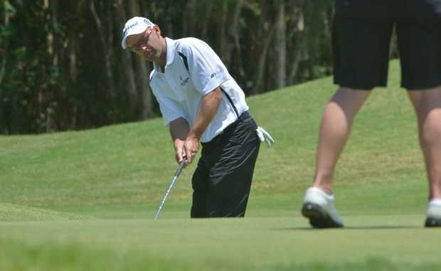 Action at Twin Waters Golf Club for the Holden Scramble Final.