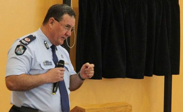 Asst Comm for southern Queensland Paul Wilson speaks at the opening of the PCYC on Friday.