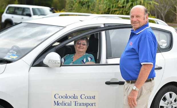 Arthur Hammond of Cooloola Coast Medical Transport and volunteer/client Marge Sherry say the area's rapidly growing population has forced the service to refuse new Gympie clients.