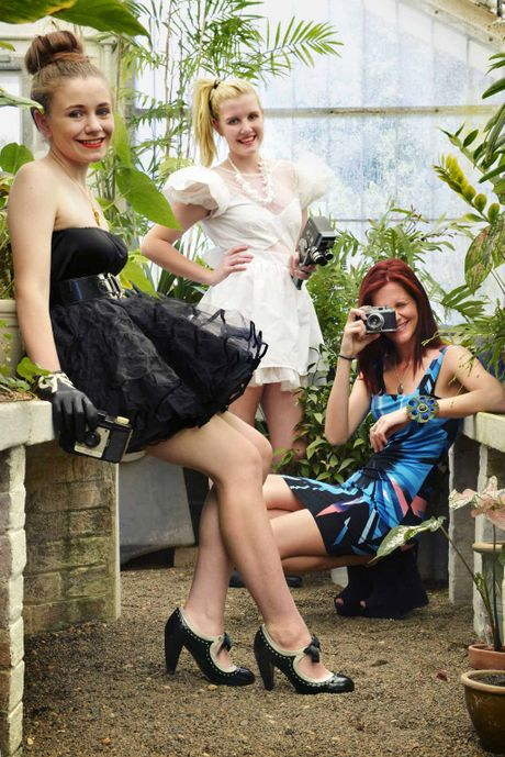 CHEAP CHIC: Charlotte Auld, Catriona Mitchell and Charley Clarke model outfits from Lifeline Riverlink.