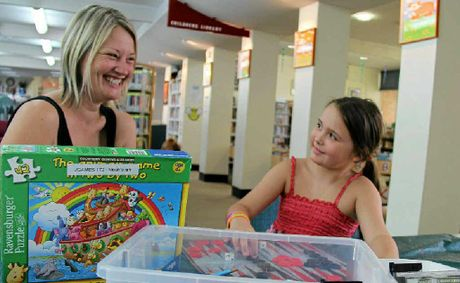 Heidi and Gemma L'Huillier are regulars at the Warwick Library and may see a change to openin