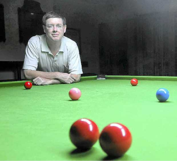 Andrew Kruger is hoping to recruit more juniors to the Gympie RSL Snooker Club to boost numbers.