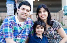 FAMILY FUN: Aresh Payervand, Arya Payarvand and Sayeh Pooya.