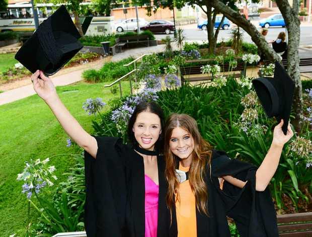 NURSING AMBITION: Nursing students Francesca McLeod and Amy Gibson.