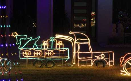 BRIGHT CHRISTMAS: Residents are stepping up their Christmas light displays this year.