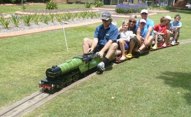 Ride the miniature MELSA trains in Queens Park, Maryborough on Sunday, January 6. Cost is $1 per ride.