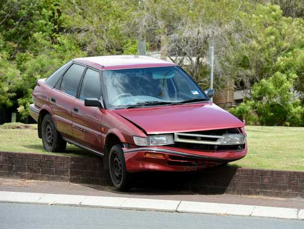 Car finds bizarre resting place in Tweed.