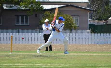 Chris Cantwell bats for Wheatvale at a game at Slade Park.