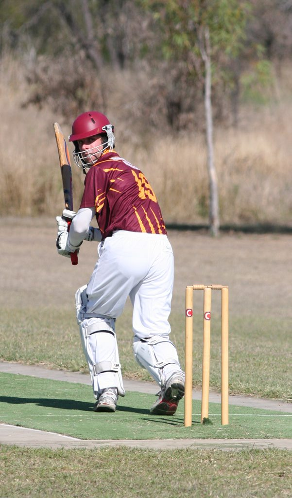 Thangool Possums run-machine Ray Stanley scored a century against Valentine Plains last weekend and will be looking for another big score this weekend against Taipans. Photo Chris Davies / Central Telegraph