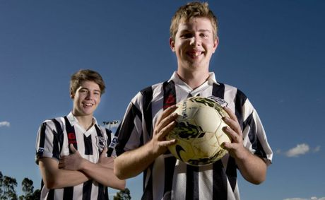 Willowburn Colts players Ben Paterson (left) and Josh Shoesmith are hopeful of worki