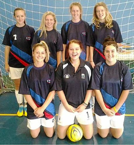 FLOOD OF GOALS: The Great Northern Futsal team that dominated its division of the senior regional titles. Back row, from left, Shelby Parker, Laani Winkler-Harding, Amy Jones, Zoe Woodbry; front, Taylah Power-Casson, Britt Hargreaves, Imogene Tomasone.