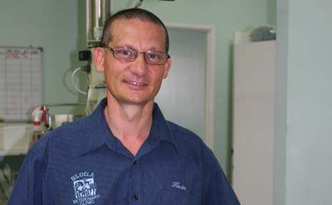 PARVO OUTBREAK: Biloela Vet Kevin Agius has warned residents to be aware of parvo symptoms.