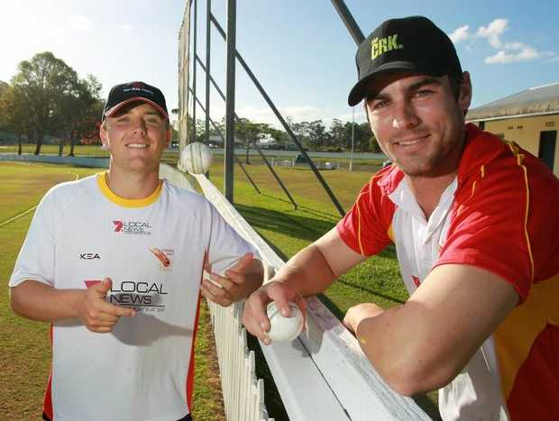 Scorchers spinners Sam Gardiner, left, and Alecz Day are looking to perform well in the T20 games over the weekend. Photo: Brett Wortman / Sunshine Coast Daily