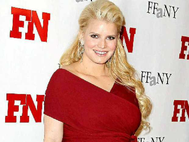 BAD EXAMPLE: Pregnant singer Jessica Simpson in her high heels.