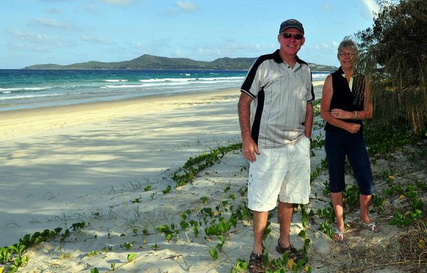 PARADISE FOUND: Peter and Liz Upton put their 31 hectare Noosa North Shore property on