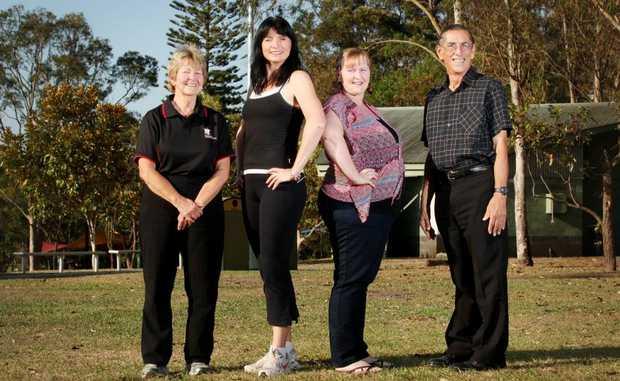 Margaret Cuylenburg, Letita Elliot, Louise Hert and Geoff Cuylenburg are determined to reverse the figures of obesity in Queensland. Photo: Inga Williams / The Reporter