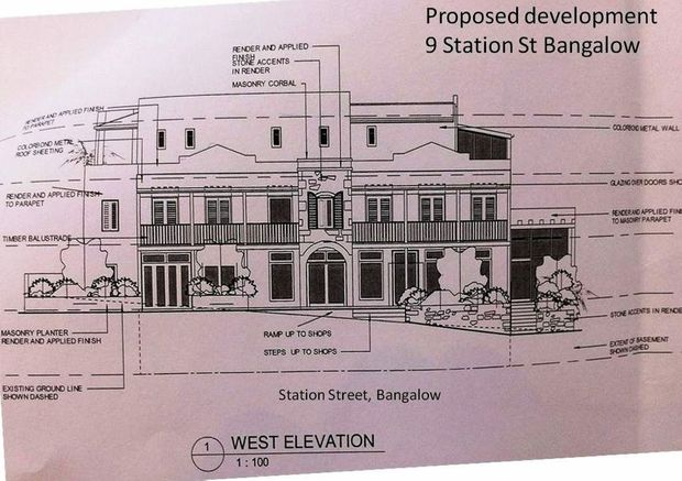Plans for a proposed four-storey $3.5 million Bangalow development has concerned locals.