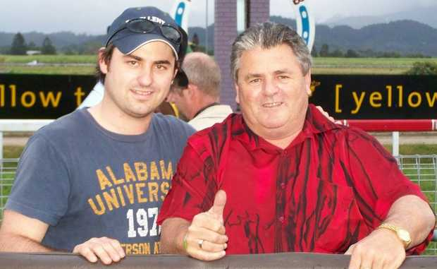 Trainer Danny Bowen with son, strapper Daniel Bowen. Photo Contributed
