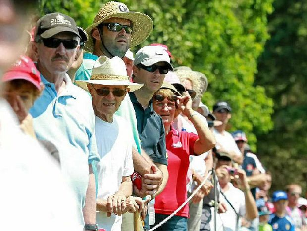 There was plenty to keep the crowd entertained on and off the course at the Coolum PGA event.