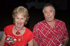 Martin and Janet Cooke dress for the occasion at the Blackbutt Community Christmas Carols.