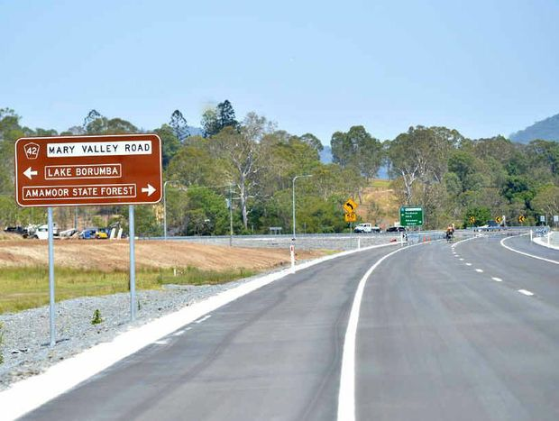 The new cross-river link road will join the Mary Valley Hwy.