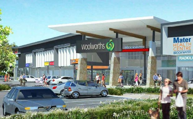 FUTURE LOOK: An artist's impression of the Brookwater Retail Village, at present under construction.