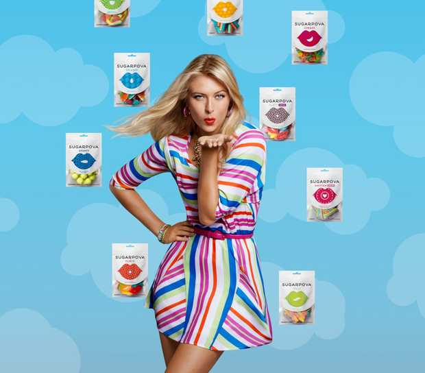 Tennis player Maria Sharapova has launched a range of lollies.