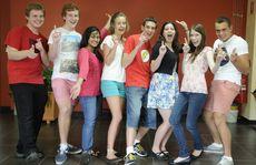 Celebrating their OP1 results are (from left) Lachlan Webb, Adam Little, Maisha Rahman, Grace Myatt, Alex Hilton, Marissa Andersen, Bernie King and William Searchfield.