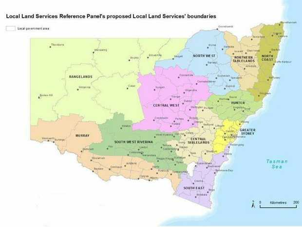 The final draft boundaries for the new Local Land Services organisation.
