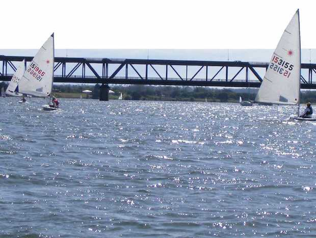 Clarence River Sailing Club's Laser fleet of 20 yachts enjoyed a perfect summer afternoon's racing in 10-knot northeasterlies in the last event of 2012.