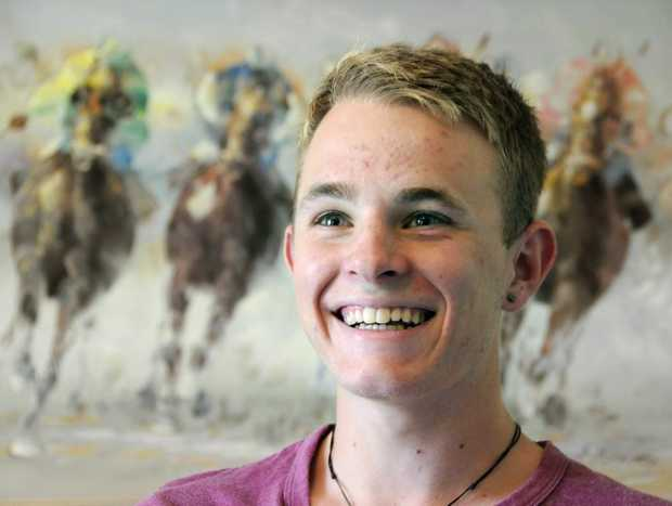 Toowoomba apprentice Travis Wolfgram making his riding mark.