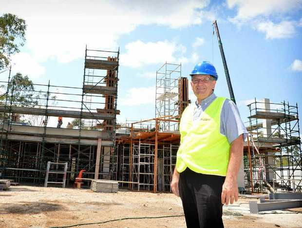 Gympie TAFE campus manager Corrie McColl at the new University of the Sunshine Coast building.