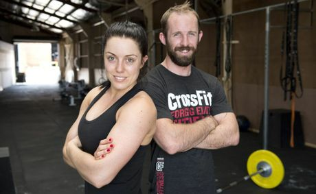 CrossFit Great Divide trainers Christy Cotroneo and Jason Erbacher at Toowoomba's Fighting Fit gym this week.