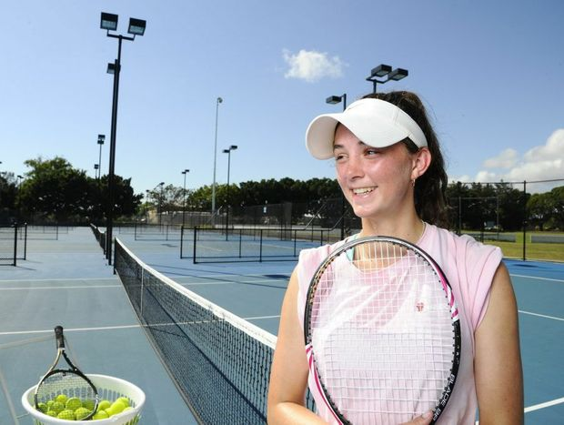Local tennis star Brittany Huxley will be off to the US next year to pursue a scholarship. Photo: JoJo Newby / The Daily Examiner