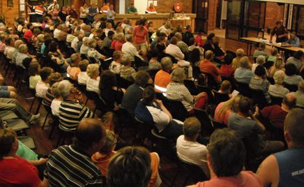 BIG CONCERN: Over 350 people turned out to a meeting at Kianga Hall on Monday to discuss the future of the hospital.